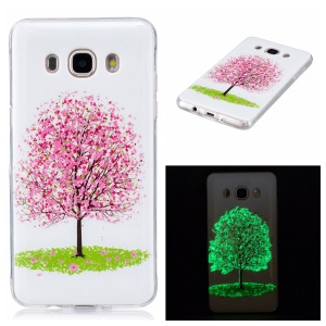 Noctilucent IMD Soft TPU Back Protector Case for Samsung Galaxy J5 (2016) - Tree with Flowers