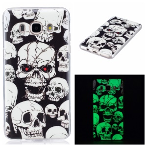 Luminous IMD Soft TPU Case for Samsung Galaxy J7 (2016) - Skulls