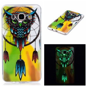 Luminous IMD Soft TPU Shell for Samsung Galaxy J7 (2016) - Owl and Dreamcatcher