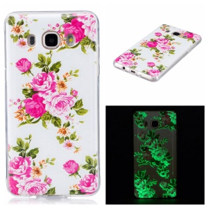 Luminous IMD Soft TPU Back Shield Casing for Samsung Galaxy J7 (2016) - Blooming Flowers