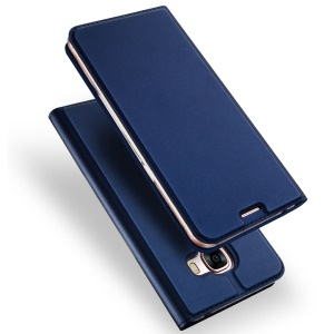 DUX DUCIS Skin Pro Series Leather Card Slot Cover for Samsung J5 Prime/On5 2016 - Dark Blue