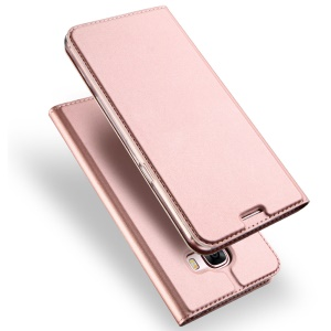 DUX DUCIS Skin Pro Series Leather Stand Flip Cover for Samsung J7 Prime/On7 2016 - Rose Gold