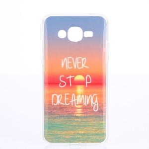 Soft IMD TPU Case for Samsung Galaxy J2 Prime - Quote Never Stop Dreaming