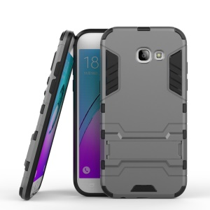 Cool Guard Plastic + TPU Kickstand Phone Cover for Samsung Galaxy A5 2017 - Grey