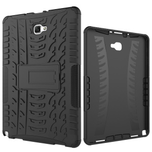 Heavy Duty Rugged Hybrid Cell Phone Case for Samsung Galaxy Tab A 10.1 (2016) with S Pen P580 / P585 - Black