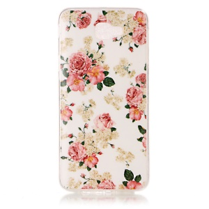 Pattern Printing IMD TPU Case Accessory for Samsung Galaxy J5 Prime/On5 2016 - Peonies