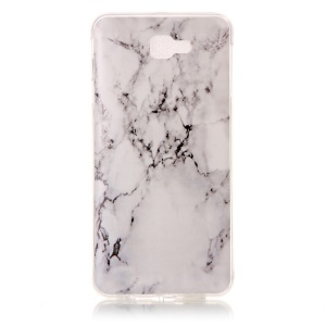 Pattern Printing IMD TPU Case for Samsung Galaxy On7 2016/J7 Prime - Marble Pattern