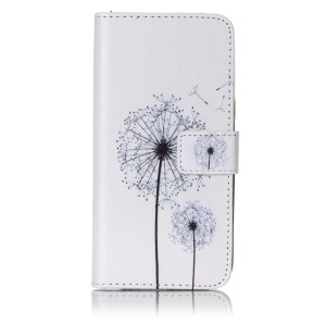 Patterned Leather Wallet Magnetic Cellphone Case for Samsung Galaxy A5 (2017) - Dandelion