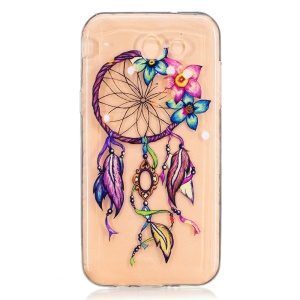 Embossed Soft Phone Case (TPU) for Samsung Galaxy J3 Prime - Flower and Dreamcatcher