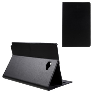 DOORMOON Genuine Leather Smart Case for Samsung Galaxy Tab A 10.1 (2016) with S Pen P580 P585 - Black