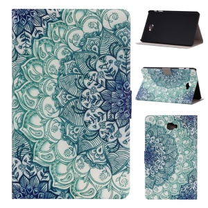 Patterned Leather Card Holder Stand Case for Samsung Galaxy Tab A 10.1 T580 T585 - Mandala Pattern