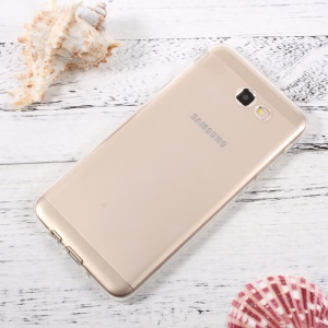 Non-slip Inner Glossy Outer TPU Mobile Shell for Samsung Galaxy J7 Prime/On7 2016 - Transparent