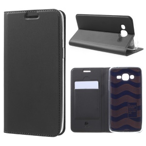 DUX DUCIS Skin Pro Series for Samsung Galaxy J2 Prime / Grand Prime Plus / Prime (2016) Business Leather Case - Dark Grey