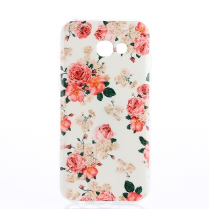 Pattern Printing IMD TPU Back Cover for Samsung Galaxy A3 (2017) - Blooming Roses