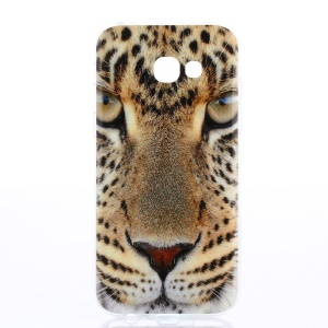 TPU Patterned IMD Cellphone Cover for Samsung Galaxy A3 (2017) - Leopard