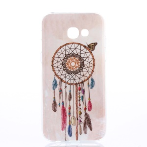Patterned TPU IMD Case for Samsung Galaxy A3 (2017) - Dreamcatcher and Butterfly