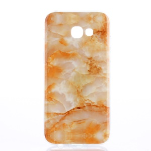 IMD Pattern Mobile Casing TPU for Samsung Galaxy A3 (2017) - Orange Marble Pattern