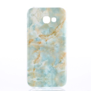 Patterned TPU IMD Mobile Case for Samsung Galaxy A3 (2017) - Blue Marble Pattern