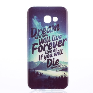 IMD TPU Glossy Back Case for Samsung Galaxy A5 (2017) - Mountain Scene and Quote