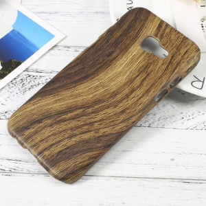 PU Leather Coated Hard Plastic Mobile Phone Case for Samsung Galaxy A3 (2017) - Wood Texture
