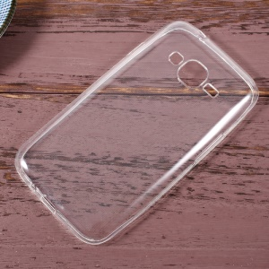Anti-watermark Transparent TPU Phone Back Shell Casing for Samsung Galaxy J1 mini prime