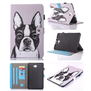 For Samsung Galaxy Tab A 10.1 (2016) T580 T585 Patterned Card Holder Leather Flip Cover -