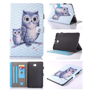 For Samsung Galaxy Tab A 10.1 (2016) T580 T585 Flip Leather Card Holder Shell -