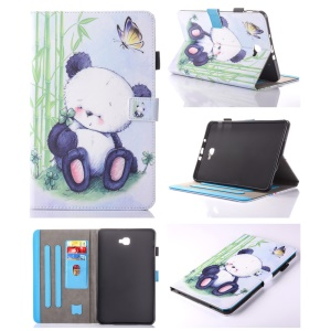 For Samsung Galaxy Tab A 10.1 (2016) T580 T585 Pattern Printing Leather Card Holder Cover -