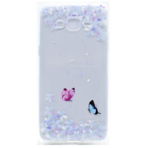 Pattern Printing TPU Shell for Samsung Galaxy J2 Prime / Grand Prime Plus / Prime (2016) - Flowers and Butterflies
