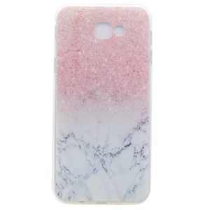 Patterned Clear TPU Back Case for Samsung Galaxy A3 (2017) - Marble and Glitter Pattern