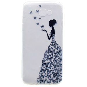 Patterned Clear TPU Phone Casing for Samsung Galaxy A3 (2017) - Butterfly Fairy