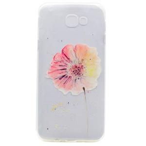 Patterned Clear TPU Mobile Phone Shell for Samsung Galaxy A3 (2017) - Pretty Flower