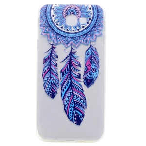 Patterned Clear TPU Shell Case for Samsung Galaxy A3 (2017) - Tribal Dreamcatcher
