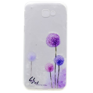 Patterned Clear TPU Case Mobile Accessory for Samsung Galaxy A3 (2017) - Purple Dandelion