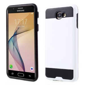 Brushed PC + TPU Combo Cell Phone Cover for Samsung Galaxy J5 Prime/On5 2016 - White