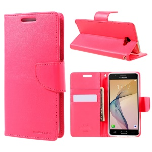 MERCURY GOOSPERY Bravo Diary Wallet Leather Phone Cover for Samsung Galaxy J5 Prime/On5 2016 - Rose