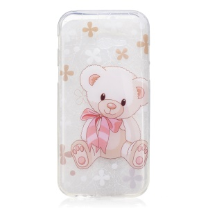 IMD Pattern Printing TPU Cover for Samsung Galaxy A3 (2017) - Bear Doll