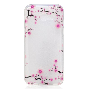 IMD Pattern Printing TPU Mobile Phone Shell for Samsung Galaxy A3 (2017) - Plum Blossom