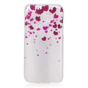 IMD Pattern Printing TPU Protection Back Cover for Samsung Galaxy A3 (2017) - Heart Pattern