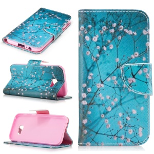 Pattern Printing Leather Wallet Stand Case for Samsung Galaxy A5 (2017) - Blooming Flowers