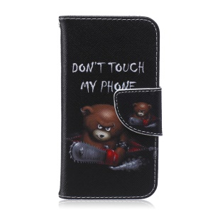 Wallet Leather Stand Cover for Samsung Galaxy A3 SM-A300F - Brown Bear