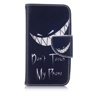 For Samsung Galaxy J1 mini Patterned Wallet Leather Case - Ghost and Do Not Touch My Phone