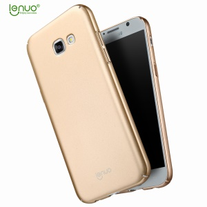 LENUO Leshield Series Silky Touch PC Mobile Cover for Samsung Galaxy A7 (2017) A720 - Gold