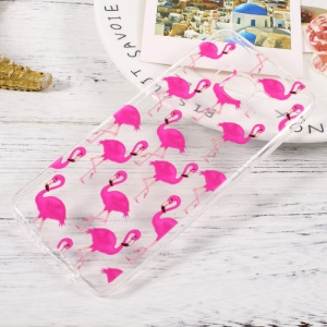 Patterned TPU Mobile Phone Cover for Samsung Galaxy S8 - Flamingos