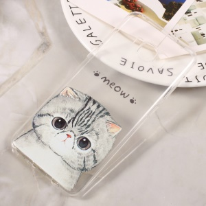 Patterned Thin TPU Cellphone Case for Samsung Galaxy S8 - Meow Cat