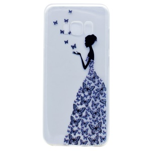Pattern Printing Soft TPU Case for Samsung Galaxy S8 - Butterfly Girl