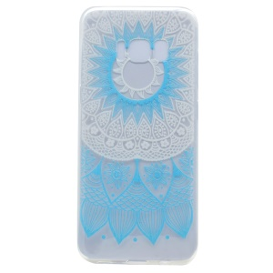 Pattern Printing Soft TPU Cover Case for Samsung Galaxy S8 - Blue Flower