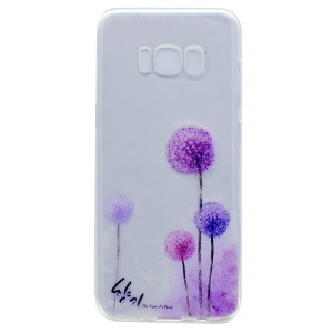 Pattern Printing TPU Shell Cover for Samsung Galaxy S8 - Dandelion Pattern