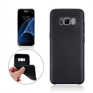 Solid Color Soft TPU Cover Case for Samsung Galaxy S8 Plus - Black