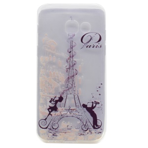Printing Pattern TPU Protective Case for Samsung Galaxy A3 (2017) - Paris Eiffel Tower